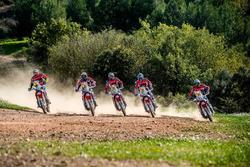 The complete Monster Energy Honda Team