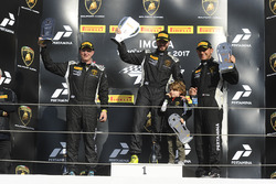 Podium LB Cup: race winner Ryan Hardwick, Antonelli Motorsport, second place Cameron Cassels, Prestige Performance, third place JC Perez, Antonelli Motorsport