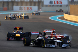 Pastor Maldonado, Williams Renault FW34, Fernando Alonso, Ferrari F2012, Mark Webber, Red Bull Racing RB8