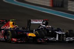 Pastor Maldonado, Williams FW34, y Mark Webber, Red Bull Racing RB8