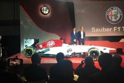 Sauber Alfa Romeo con los pilotos para 2018, Leclerc y Ericsson