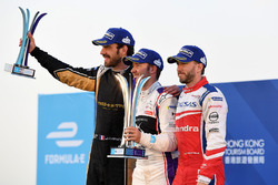 Podium: race winner, Sam Bird, DS Virgin Racing, second place Jean-Eric Vergne, Techeetah, third place Nick Heidfeld, Mahindra Racing