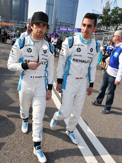 Nicolas Prost, Renault e.Dams, and Sébastien Buemi, Renault e.Dams, on the grid