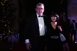 Ross Brawn, Managing Director of Motorsports, FOM, with his wife