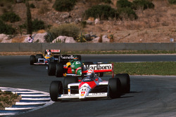 Alain Prost, McLaren MP4/4; Thierry Boutsen, Benetton B188; Nigel Mansell, Williams FW12