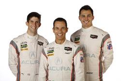 Helio Castroneves, Ricky Taylor, Graham Rahal, Acura Team Penske