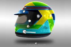 Conceito de capacete dos anos 1970