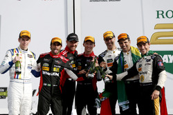 Victory lane, #5 Action Express Racing Cadillac DPi: Joao Barbosa, Filipe Albuquerque, Christian Fittipaldi and #31 Action Express Racing Cadillac DPi: Felipe Nasr, Eric Curran, Mike Conway, Stuart Middleton