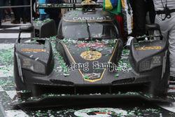 Victory lane, Winning car #5 Action Express Racing Cadillac DPi: Joao Barbosa, Filipe Albuquerque, Christian Fittipaldi