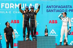 Jean-Eric Vergne, Techeetah, Andre Lotterer, Techeetah con Sébastien Buemi, Renault e.Dams, in 3rd