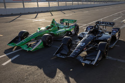 Autos von Spencer Pigot, Ed Carpenter Racing Chevrolet, und Jordan King, Ed Carpenter Racing Chevrolet