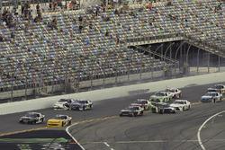 Ryan Ellis, BJ McLeod Motorsports, Densify Toyota Camry, crash, Brandon Jones, Joe Gibbs Racing, Juniper Toyota Camry