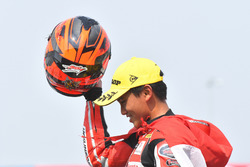 Podium AP250: second position Mario Suryo Aji, Astra Honda Racing Team