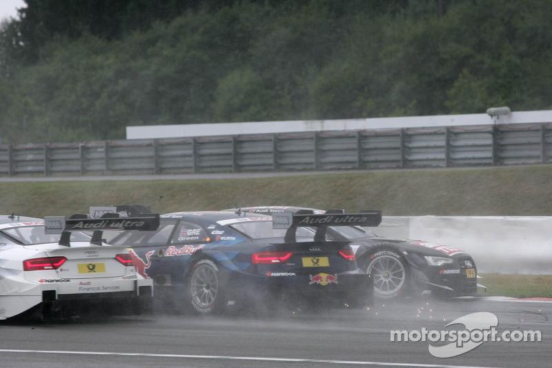 Jamie Green, Audi Sport Team Abt Sportsline Audi RS 5 DTM and Timo Scheider, Audi Sport Team ABT Sportsline Audi A5 DTM