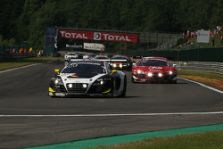Pace lap; #6 Phoenix Racing Audi R8 LMS Ultra: Harold Primat, Oliver Jarvis, Christopher Haase