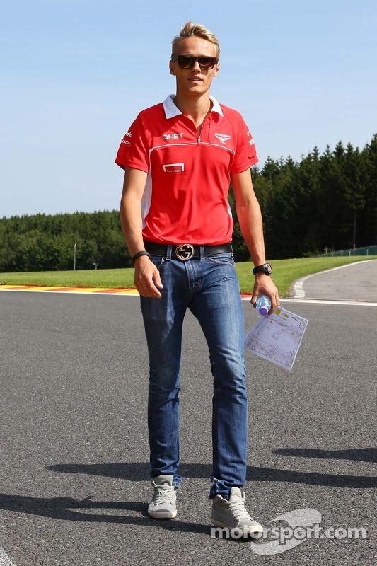Max Chilton, Marussia F1 Team walks the circuit.