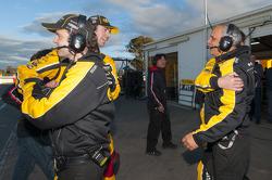 Nissan Motorsport team members celebrate