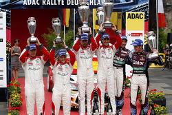 pódio, segundo Mikko Hirvonen, Jarmo Lehtinen, Citroen DS3 WRC #2, Citroen Total Abu Dhabi World Rali Team