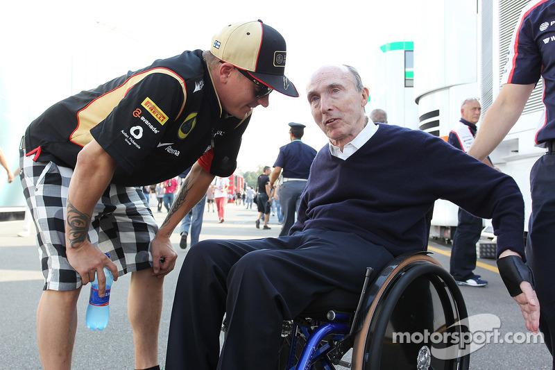 Kimi Raikkonen, Lotus F1 Team with Frank Williams, Williams Team Owner