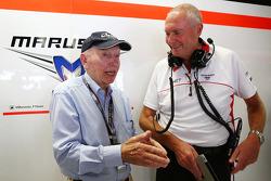 John Surtees, with John Booth, Marussia F1 Team Team Principal