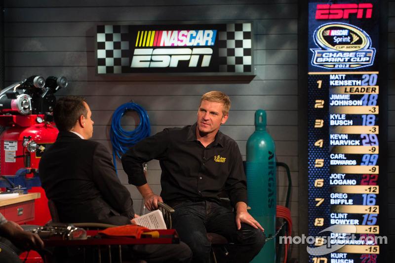 Clint Bowyer bezoekt ESPN
