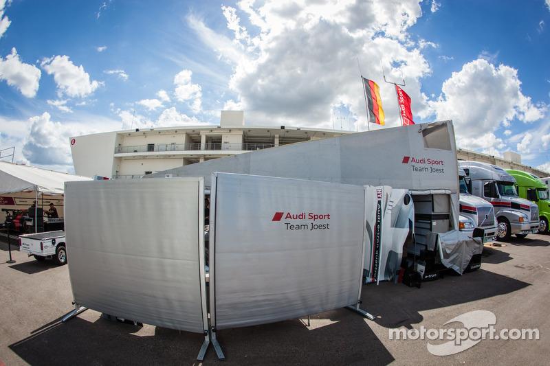 Audi Sport Team Joest paddock