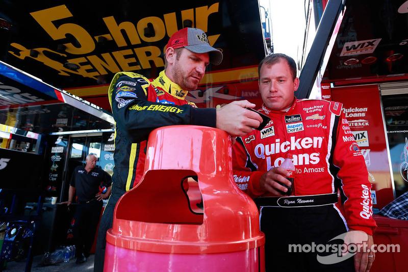 Clint Bowyer en Ryan Newman
