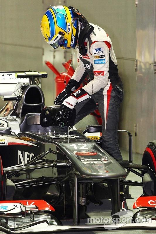 Esteban Gutierrez, Sauber em parque fechado
