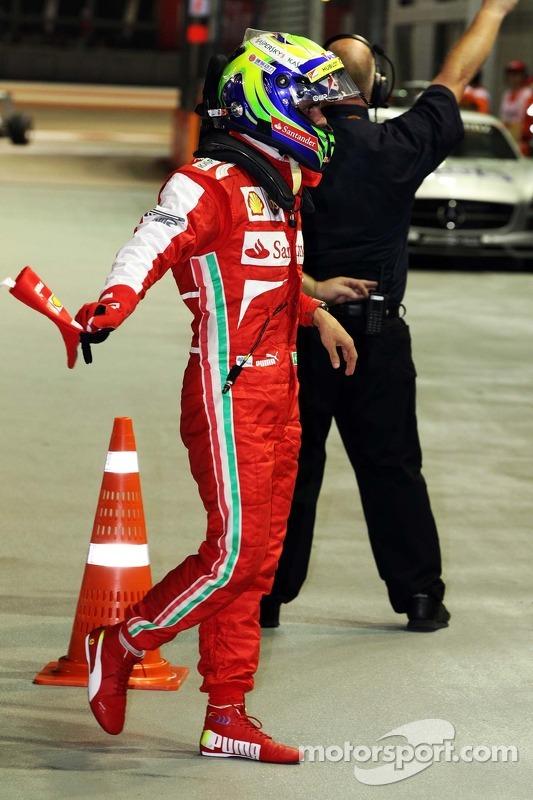 Felipe Massa, Ferrari, no parque fechado