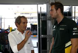 Alain Prost y Giedo van der Garde, Caterham F1 Team