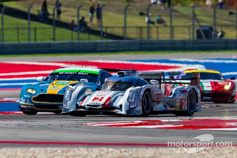#2 Audi Sport Team Joest Audi R18 e-tron quattro: Tom Kristensen, Loic Duval, Allan McNish op ...