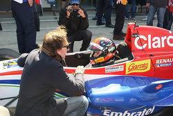 Pietro Fittipaldi, with Emerson Fittipaldi