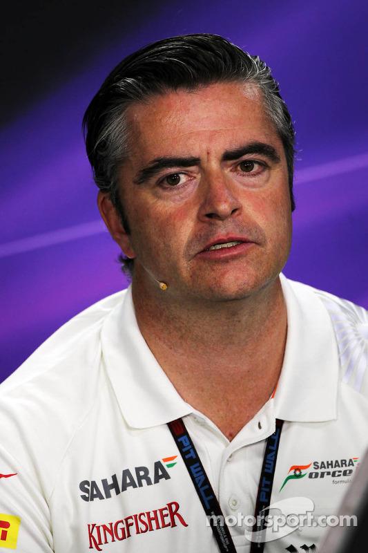 Andy Stevenson, Chefe de equipe Sahara Force India F1 Team Conferência de Imprensa da FIA