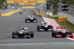 Esteban Gutiérrez, Sauber F1 Team y Sergio Pérez, McLaren Mercedes