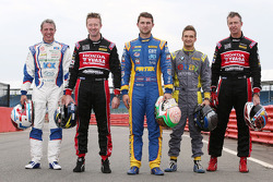 Andrew Jordan, Jason Plato, Matt Neal, Gordon Shedden et Colin Turkington