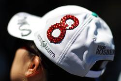 A Nico Rosberg, Mercedes AMG F1 cap worn by a fan
