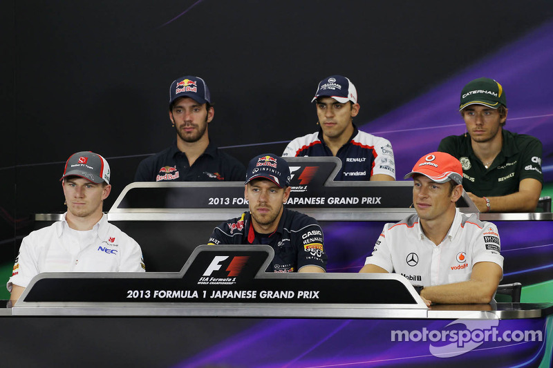 Jean-Eric Vergne, Scuderia Toro Rosso; Pastor Maldonado, Williams; Charles Pic, Caterham; Nico Hulke