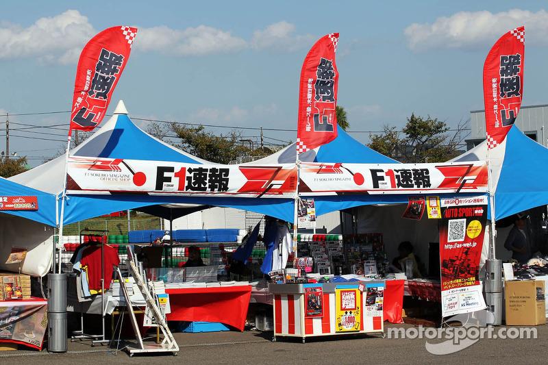 Een merchandise stand