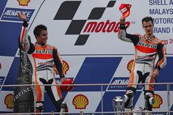 Race winner Dani Pedrosa, second place Marc Marquez