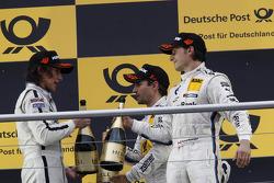 Podio: Roberto Merhi, Mercedes AMG DTM-Team HWA DTM Mercedes AMG C-Coupe, Timo Glock, BMW Team MTEK BMW M3 DTM, Bruno Spengler, BMW Team Schnitzer BMW M3 DTM