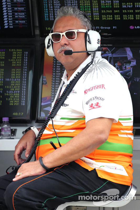 Vijay Mallya, eigenaar, Force India Formula One Team