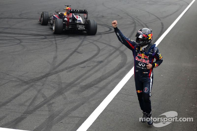 Race winner and 2013 world champion Sebastian Vettel