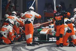 Adrian Sutil, Sahara Force India VJM06 makes a pit stop