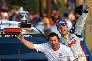 Podium: WRC2 champions Robert Kubica and Maciek Baran, Citroën DS3 WRC