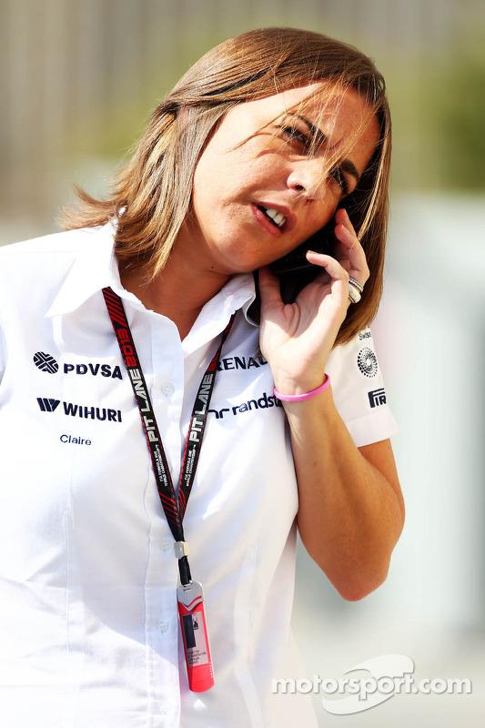 Claire Williams, vice-diretora da equipe Williams