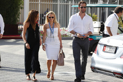 (L to R): Natalie Pinkham, Sky Sports Presenter with Georgie Thompson, Former Sky Sports F1 Presenter and her boyfriend Sir Ben Ainslie, Olympic Sailing Legend