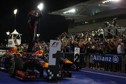 1st place Sebastian Vettel, Red Bull Racing, 2nd place Mark Webber, Red Bull Racing