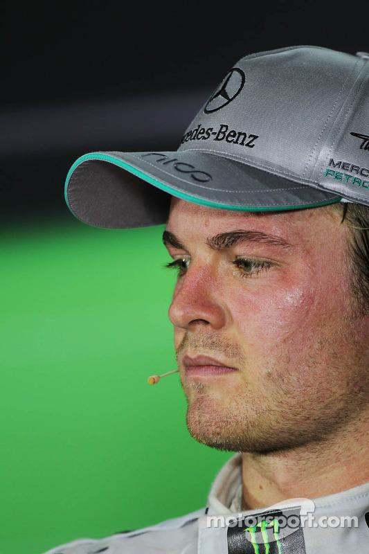 Nico Rosberg, Mercedes AMG F1 bij de FIA-persconferentie