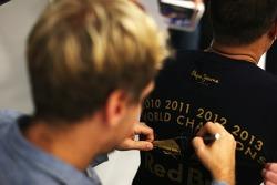2013 World Champion Sebastian Vettel visits Red Bull Racing factory and headquarters in Milton Keynes