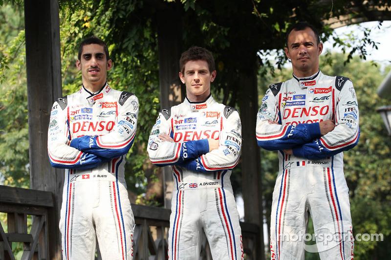 Anthony Davidson, Stéphane Sarrazin en Sebastien Buemi